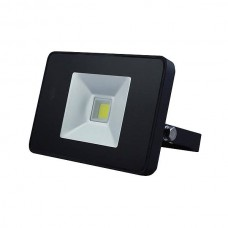 LED FLOOD LIGHT 10W MET BEWEGINGSMELDER ZWART, NEUTRAALWIT